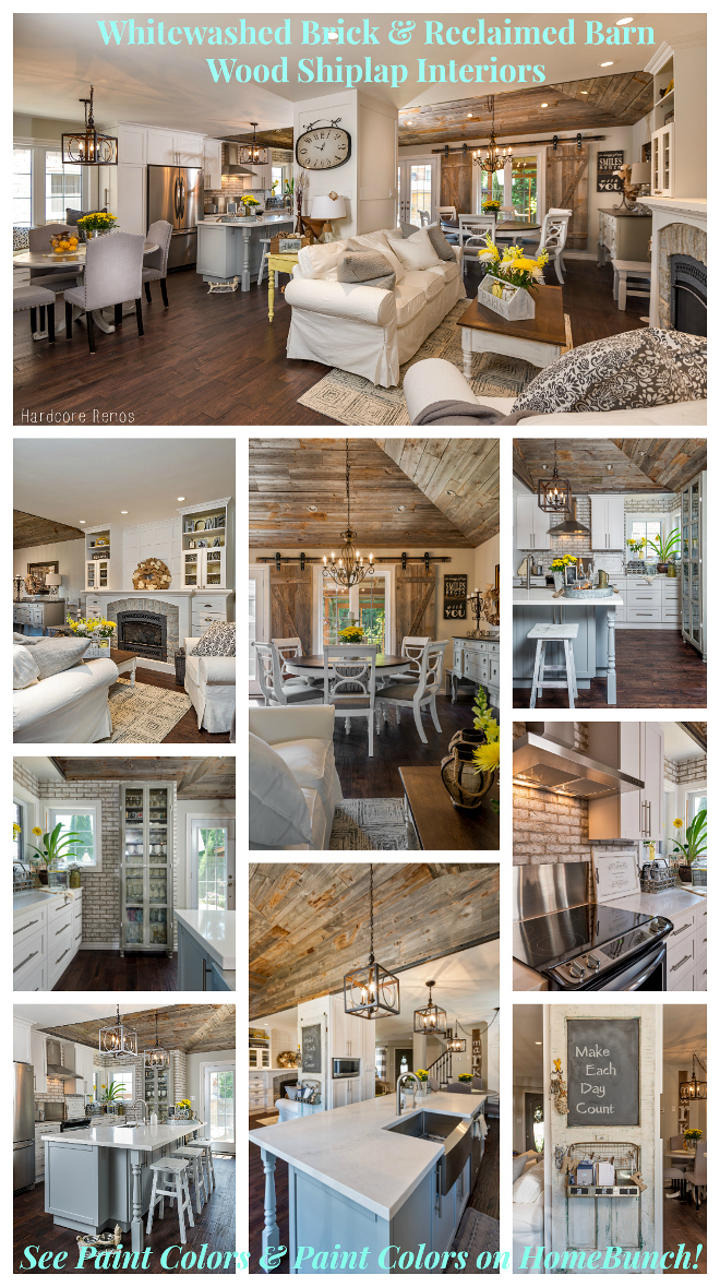 Whitewashed Brick & Reclaimed Barn Wood Shiplap Interiors. Inspiring renovation photos, design and ideas. Whitewashed Brick & Reclaimed Barn Wood Shiplap Interiors.