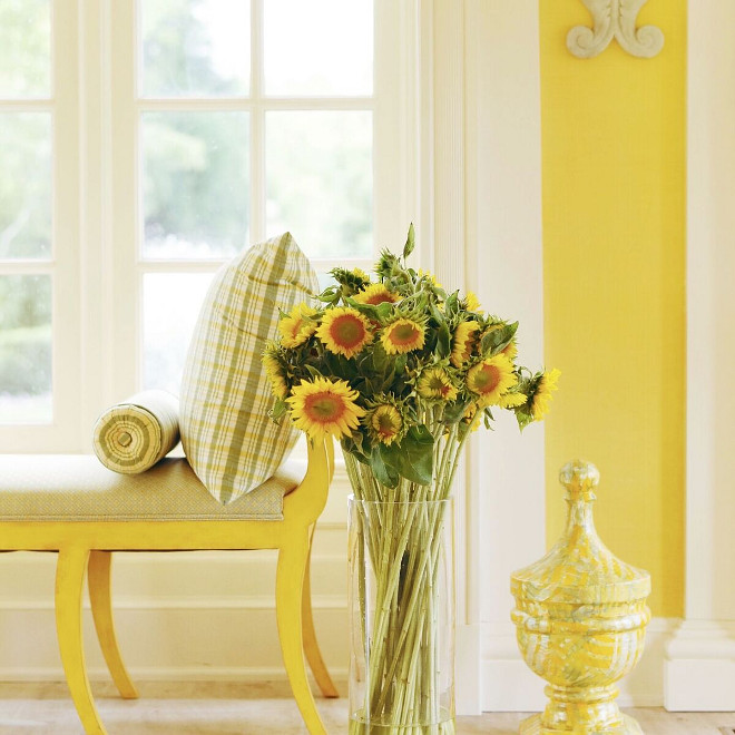 Yellow interiors. Yellow interior design ideas. Yellow #yellow #yellowinteriors #yellowinteriordesignideas #yellowdecor Home Bunch's Beautiful Homes of Instagram @loveyourperch