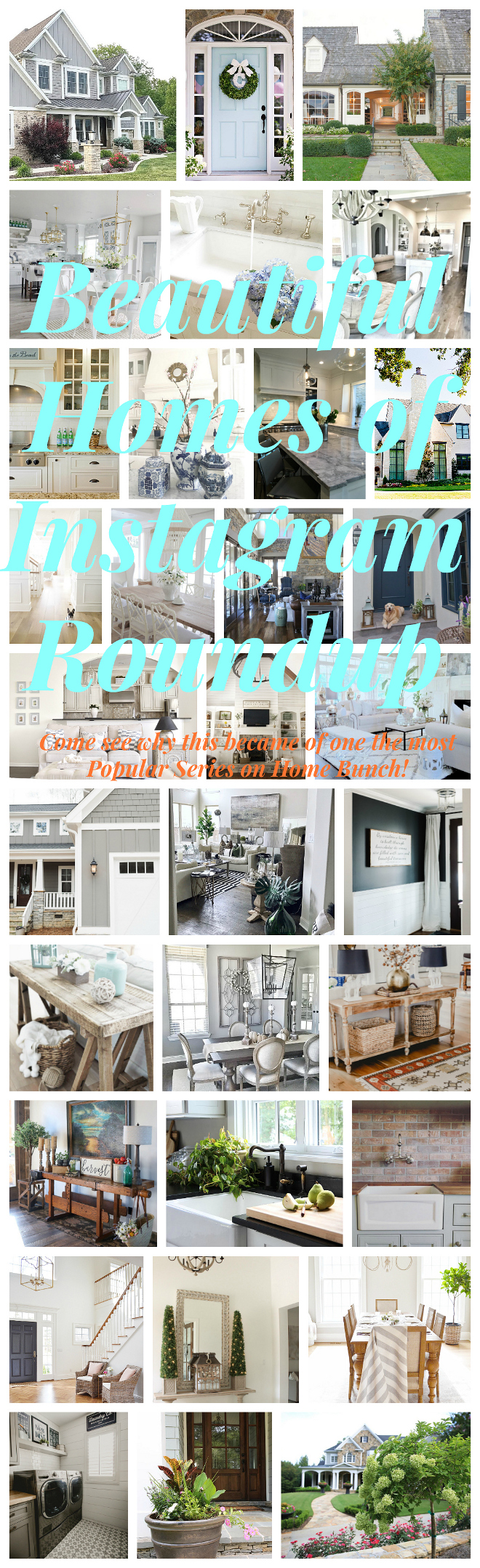 Beautiful Homes of Instagram Roundup. Beautiful Homes of Instagram Roundup #BeautifulHomes #instagram #Roundup