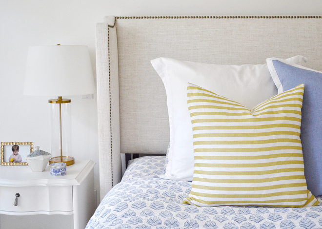 Bedroom Ideas. Nightstands are from RH Teen - Jolie Nightstand in French White. Bedroom Ideas. Bedding is from Serena and Lily in Sanibel. Bedroom Ideas. Bedroom Ideas. Bedroom Ideas #Bedroom #BedroomIdeas Beautiful Homes of Instagram @HomeSweetHillcrest