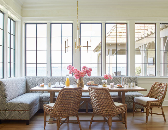 Breakfast Room Windows. Breakfast Room with steel windows. Breakfast Room Windows #BreakfastRoom #windows #steelwindows Andrew Howard Interior Design