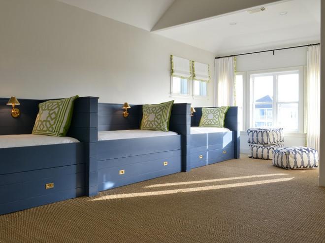 Built in beds. Navy Blue built in beds. Built in beds. Navy Blue built in beds #Builtinbeds #NavyBluebeds #builtinbed Munger Interiors