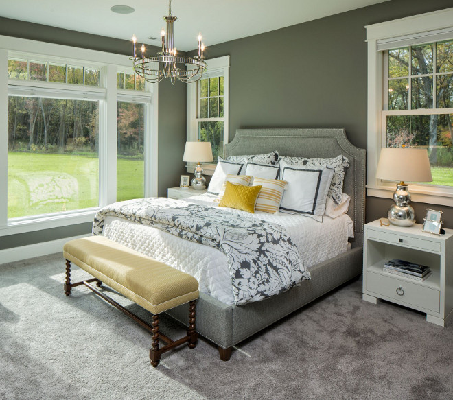 Shingle style home with casual coastal interiors home for Benjamin moore chelsea gray paint