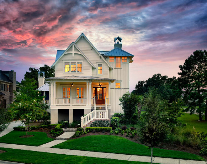 Creamy white exterior paint color. Creamy white home exterior paint color The type of siding is HardiePlank Lap Siding and the trim is simply pressure treated 2x wood #creamywhiteexterior #creamywhitehome #creamywhitehouse Cobb Architects