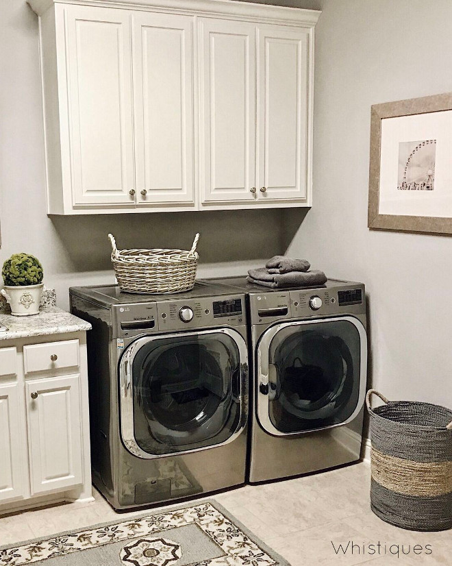 Creamy white laundry room cabinet. Creamy white laundry room cabinet. Creamy white laundry room cabinet. Creamy white laundry room cabinet #Creamywhitecabinet #laundryroom #cabinet Beautiful Homes of Instagram @whistiques