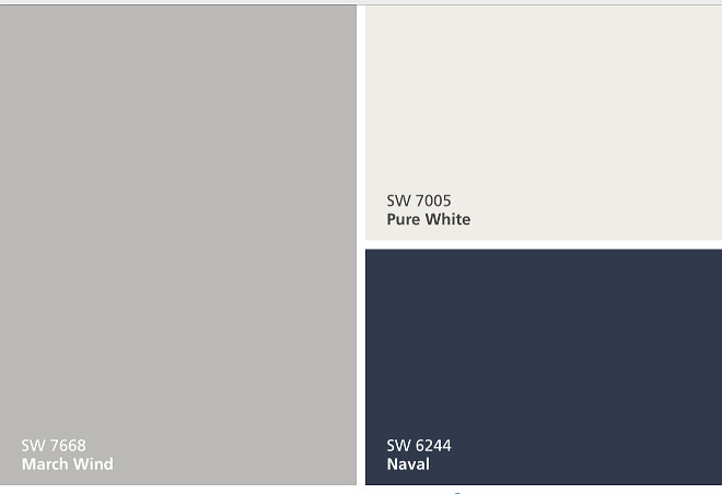 Exterior Color Palette, Siding Paint Color Sherwin Williams SW7668 March Wind, Trim Paint Color Sherwin Williams SW7005 Pure White, Front door Paint Color Sherwin Williams SW6244 Naval, Easy Exterior Color Palette #Exteriorcolorpalette #Exterior #ColorPalette #SidingPaintColor #SherwinWilliamsSW7668MarchWind #TrimPaintColor #SherwinWilliamsSW7005PureWhite #Frontdoor #PaintColor #SherwinWilliamsSW6244Naval #EasyExteriorColorPalette #Exteriorcolorpalette