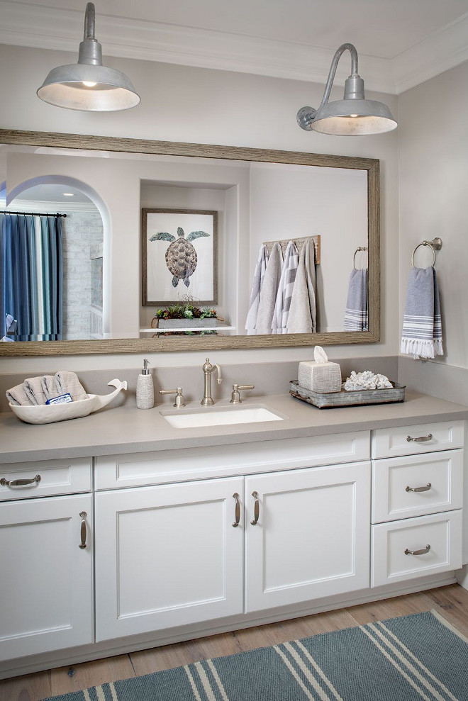 37 beautiful farmhouse interior designs the home for Coastal bathroom design