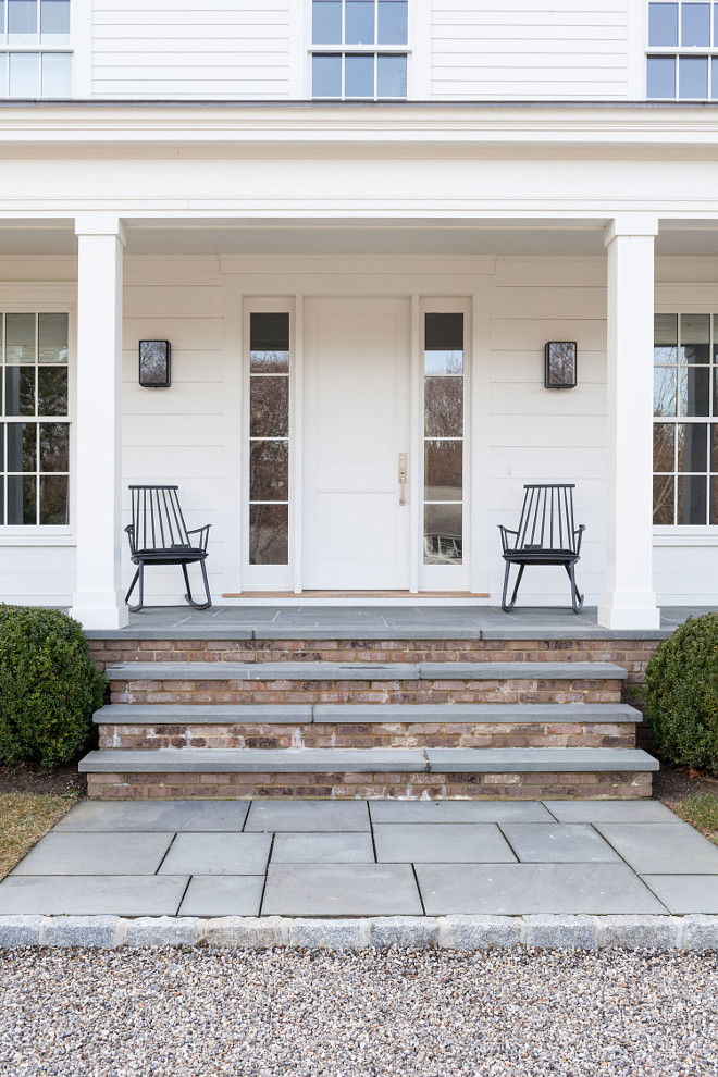 Farmhouse Bluestone Porch, Beautiful farmhouse porch with Bluestone tile and brick, Farmhouse Bluestone Porch Tile, Farmhouse Bluestone Porch Flooring, Farmhouse Bluestone Porch #FarmhousePorch #Bluestone #Porch #BluestoneTile Chango & Co