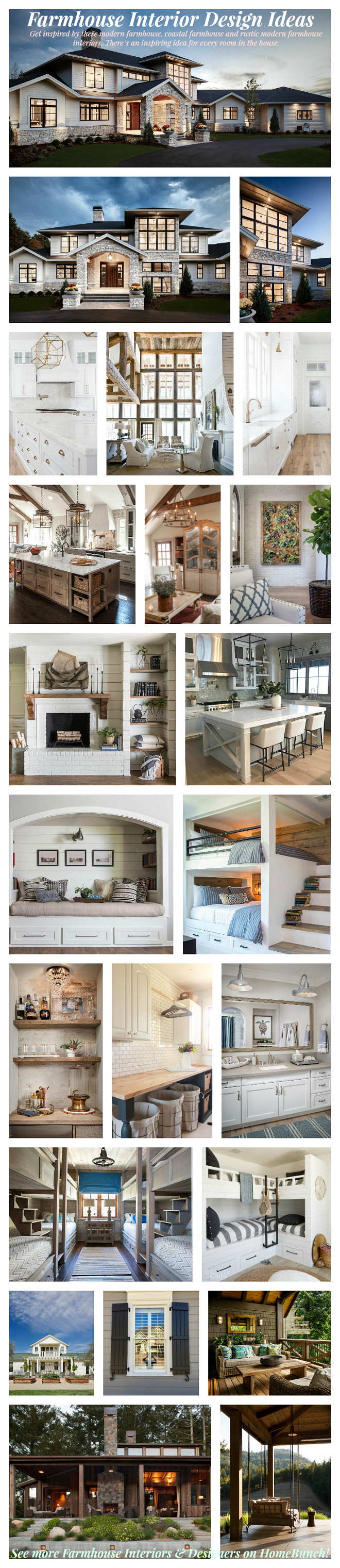 Beautiful Post Featuring A Collection Of Farmhouse Interior Design Ideas