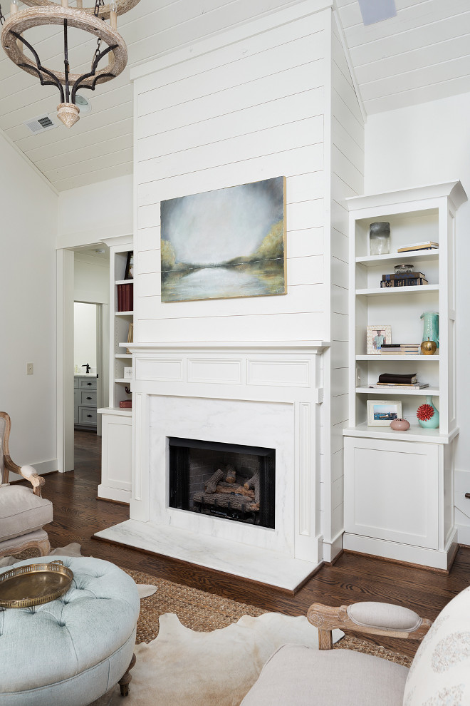 Fireplace Shiplap with built in cabinets on both sides. Shiplap Fireplace with built in cabinets. Fireplace Shiplap with built in cabinets on both sides. Fireplace Shiplap with built in cabinets on both sides #ShiplapFireplace #FireplaceShiplap #Fireplace #Shiplapwith #builtins #fireplacecabinets Willow Homes