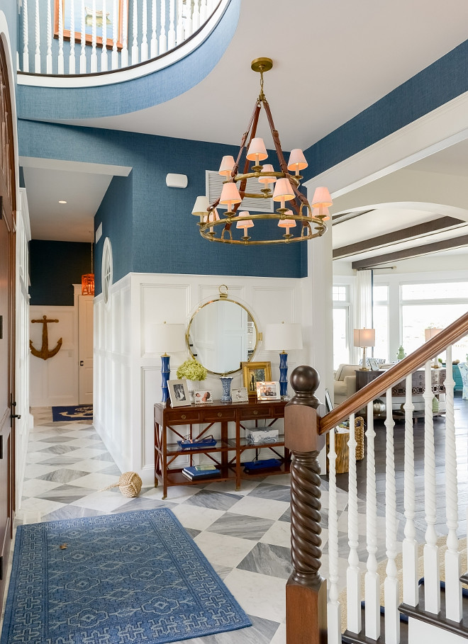 Foyer Lighting. Lighting is Ralph Lauren's Westbury Double Tier Chandelier in Natural Brass and Saddle Leather with Linen. Foyer Lighting ideas. Foyer Lighting. Foyer Lighting. Foyer Lighting. Foyer Lighting #FoyerLighting #Foyer #Lighting #RalphLauren #Westbury #DoubleTier #Chandelier #NaturalBrass #SaddleLeatherchandelier Echelon Custom Homes