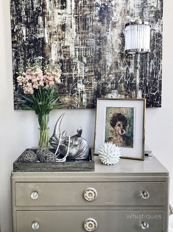 French Grey Dresser. French Grey Dresser. French Grey Dresser. French Grey Dresser #FrenchGreyDresser Beautiful Homes of Instagram @whistiques