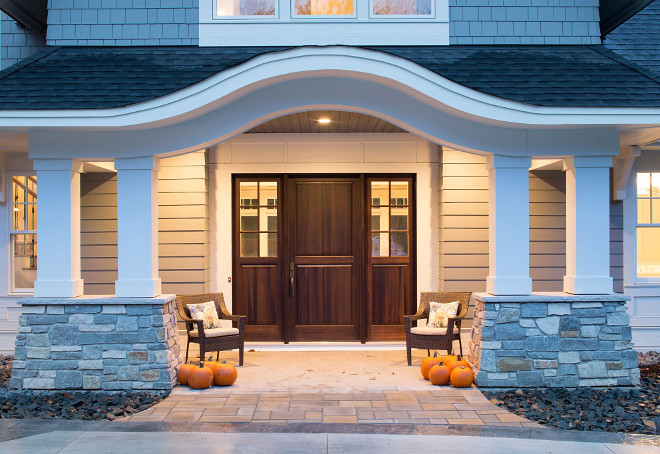 Front Door is an 8-inch front door, poplar, stained, custom designed door by Lemieux Doors #FrontDoor #8inchdoor #door #poplardoor #stainedwooddoor #customdoor Grace Hill Design, Gordon James Construction