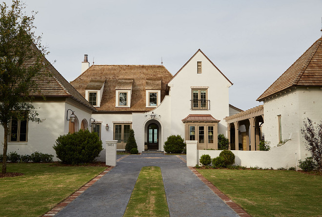 Gorgeous home with quarter sawn white oak kitchen home White painted brick exterior