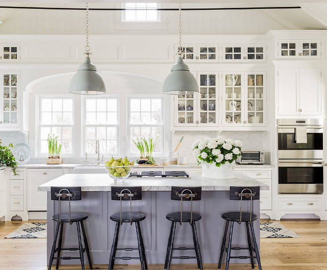 Classic Coastal Style Kitchen Design Home Bunch Interior