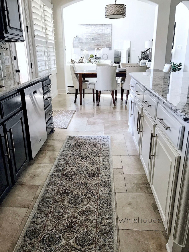 Kitchen Runner. Runner: Rugs America (Riviera) from Tuesday Morning. Kitchen Runner. Kitchen Runner. Kitchen Runner. Kitchen Runner #KitchenRunner Beautiful Homes of Instagram @whistiques