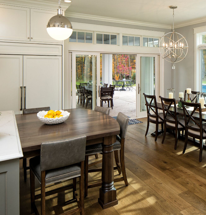 Category kitchen design home bunch interior design ideas - Kitchen island with table attached ...
