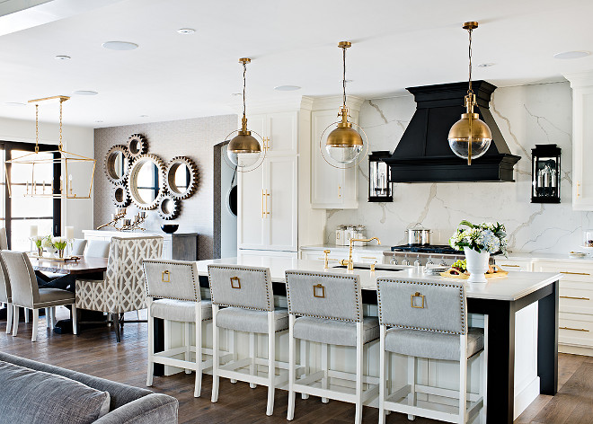 Kitchen lighting combination. Kitchen lighting combination. Kitchen lighting combination. Brass Kitchen lighting combination. Brass Lighting #brasslighting #lighting #lightingcombination #Kitchenlightingcombination Sarah St. Amand Interior Design, Inc