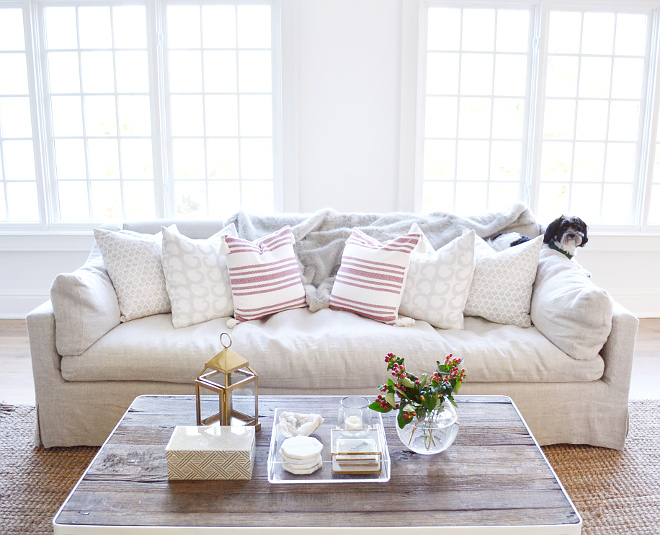 Linen Sofa. Linen Sofa. The sofa is the Belgian Classic Slope Arm Slipcovered in 8 ft. from Restoration Hardware. Fabric is Belgian Linen in Sand. Linen Sofa. Linen Sofa. Linen Sofa. Linen Sofa. Linen Sofa #LinenSofa Beautiful Homes of Instagram @HomeSweetHillcrest