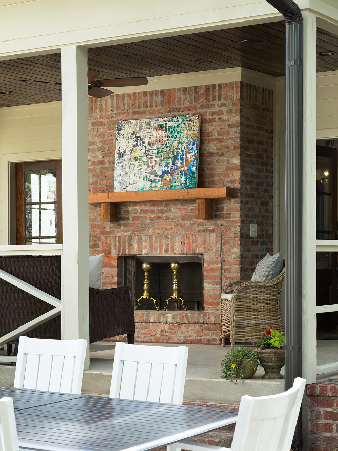Outdoor Brick Fireplace. Outdoor Brick Fireplace. Back Porch Brick Fireplace. Outdoor Brick Fireplace Backyard Fireplace #OutdoorBrickFireplace #BrickFireplace #BackPorchBrickFireplace #BackyardFireplace Willow Homes