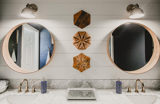 Shiplap Bathroom Wall, Shiplap Bathroom Wall Ideas, Shiplap Bathroom Wall. Shiplap Bathroom Wall Farrmhouse bathroom with shiplap wall #Shiplap #Bathroom #shiplapbathroomwall Beautiful Homes of Instagram @house.becomes.home