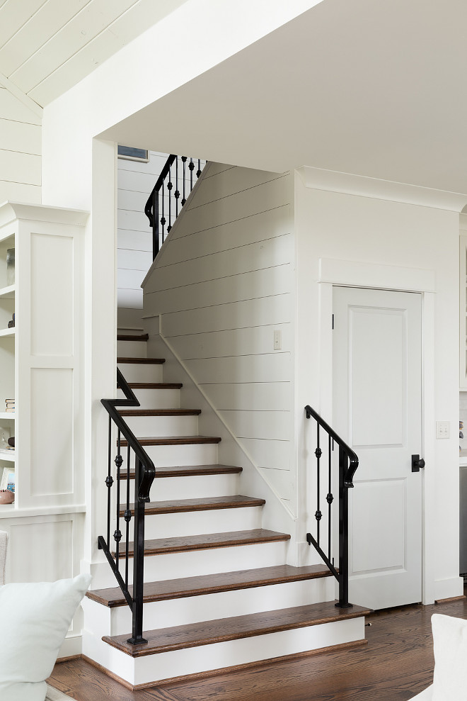 Shiplap Stairway and wrough iron railings. Shiplap Stairway and wrough iron railings. Shiplap Stairway and wrough iron railings. Shiplap Stairway and wrough iron railings #Shiplap #Stairway #wroughironrailings #ShiplapStairway Willow Homes