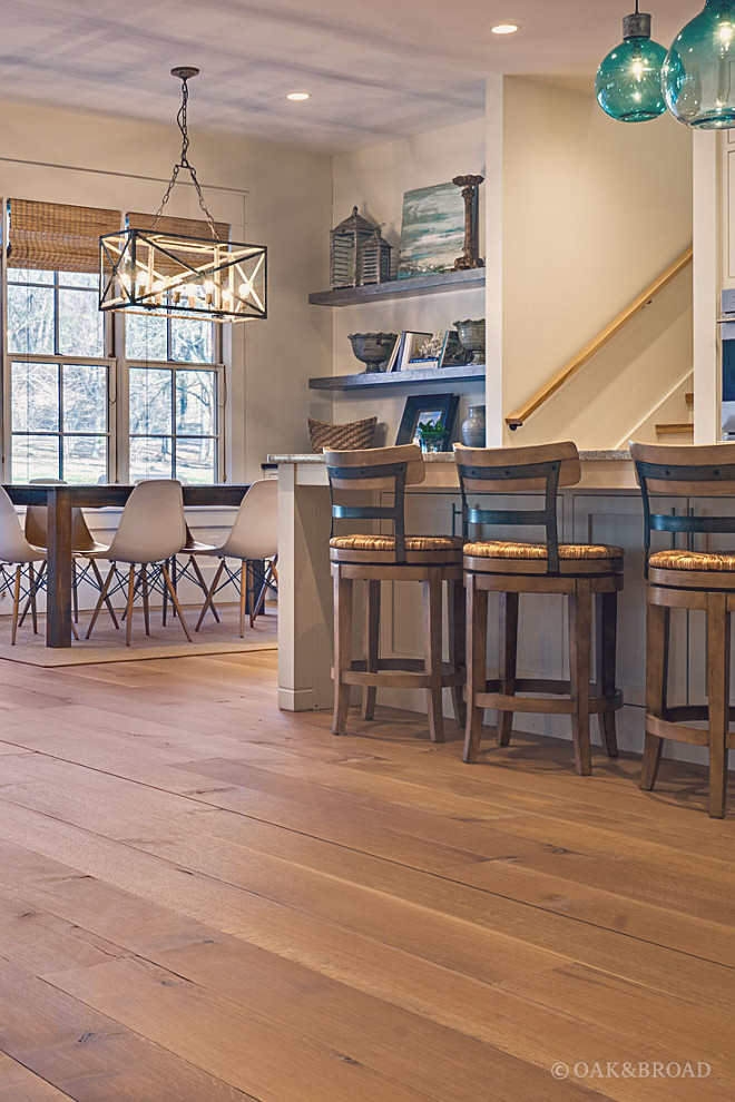 White Oak Hardwood Floor, Main floor features custom White Oak Hardwood Floor, White Oak Hardwood Floor, White Oak Hardwood Floor #WhiteOakHardwoodFloor #WhiteOak #HardwoodFloor Oak & Broad