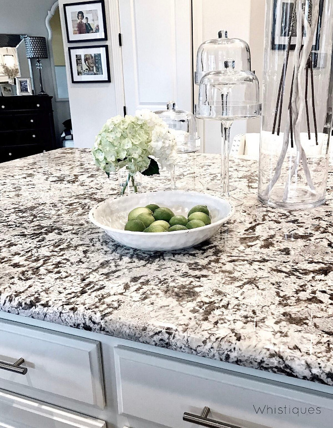 White granite. White granite countertop. White granite. White granite #Whitegranite #countertop Beautiful Homes of Instagram @whistiques