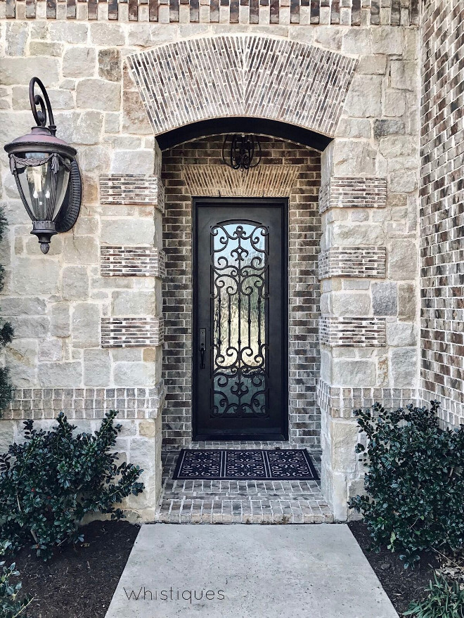 Wrought Iron Door Insert. Wrought Iron Door Insert. Wrought Iron Door Insert #WroughtIronDoor #DoorInsert Beautiful Homes of Instagram @whistiques