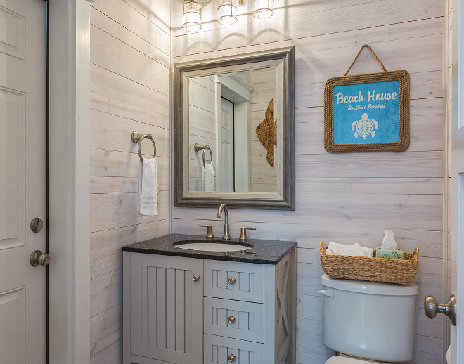 Beach Cottage With Whitewashed Plank Walls Home Bunch