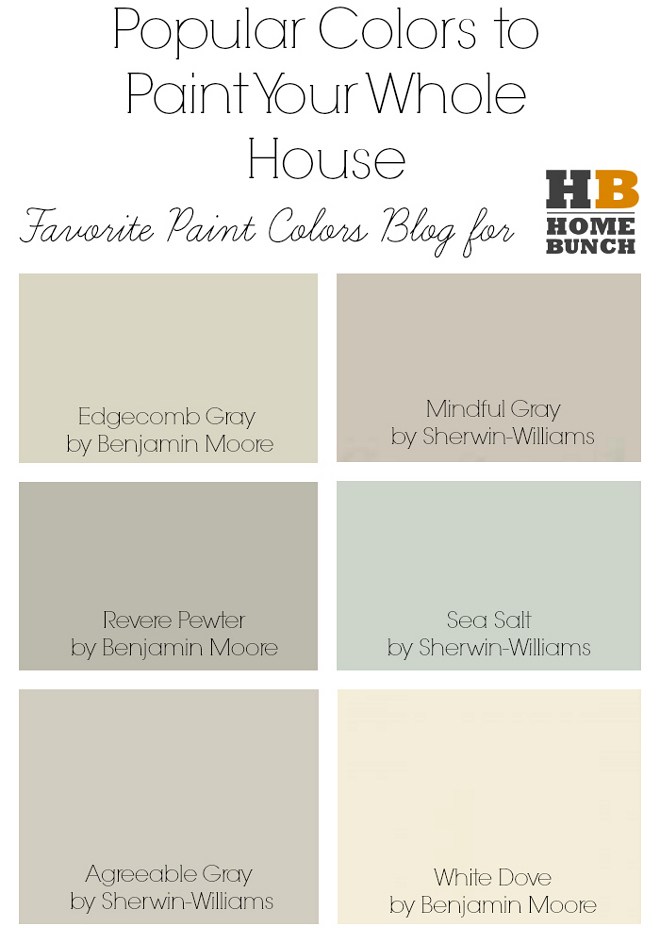 Whole House Paint Colors Por To Your Edgecomb Gray