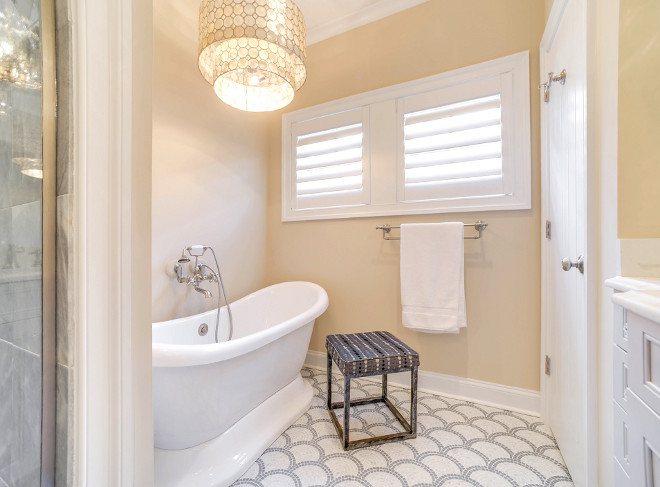 Bath Nook. This bath nook feels cozy and intimate. Lighting is Smoked Capiz Two-Tier Chandelier from Horchow. Bath Nook. Bath Nook #BathNook Echelon Custom Homes