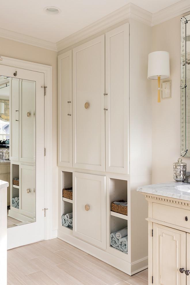 Bathroom Linen Cabinet. Bathroom Linen Cabinet Ideas Bathroom Linen Cabinet. Cream white Bathroom Linen Cabinet. Bathroom Linen Cabinetry #BathroomLinenCabinet #BathroomCabinet Casabella Interiors