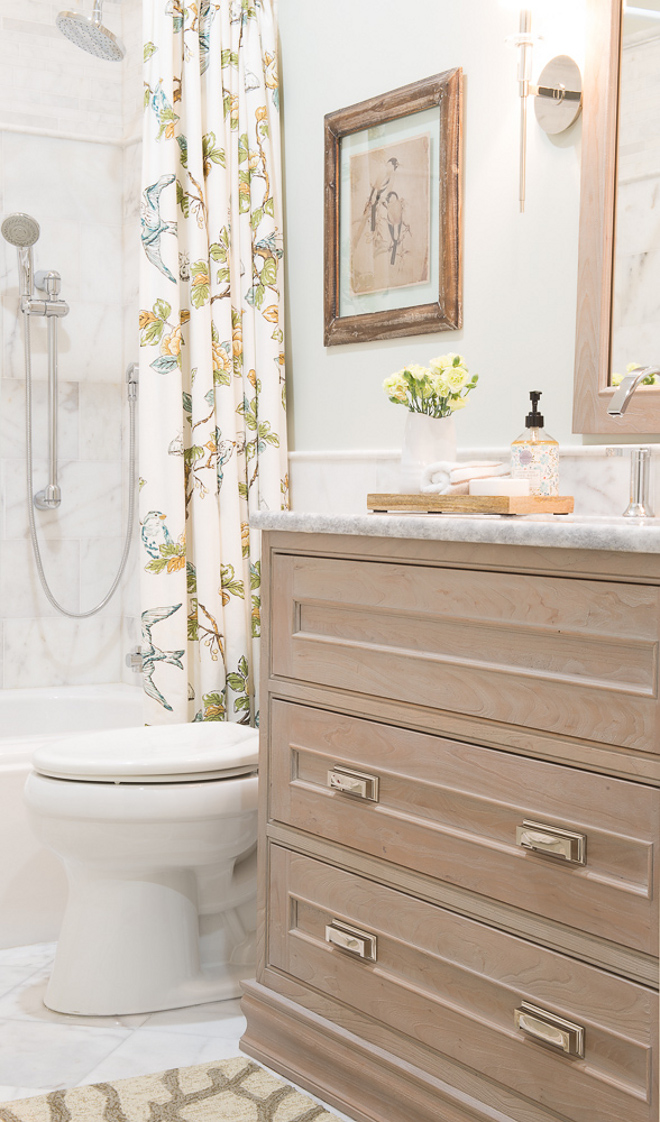 Bathroom White Oak Vanity and Quartzite Countertop. Bathroom White Oak Vanity and Quartzite Countertop. Cabinet is Dura Supreme Weathered Series. Bathroom White Oak Vanity and Quartzite Countertop #Bathroom #WhiteOakVanity #QuartziteCountertop Karr Bick
