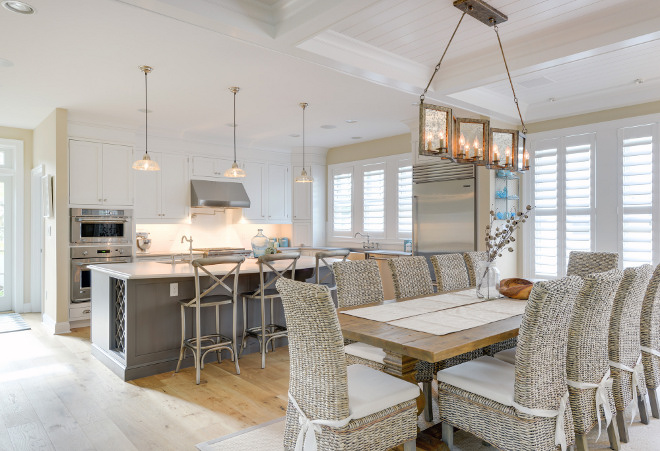 Coastal Kitchen Dining Room Design. Coastal Kitchen Dining Room Design. Coastal Kitchen Dining Room Design #CoastalKitchen #CoastalDiningRoom #KitchenDesign #DiningroomDesign Echelon Custom Homes