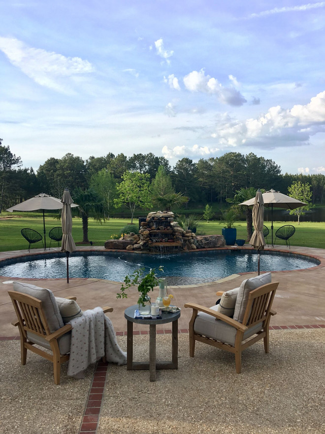 Country Home Pool. Country Home Pool Backyard Ideas. Country Home Pool #Countr Home #pool #backyard Beautiful Homes of Instagram @cindimc.ivoryhome