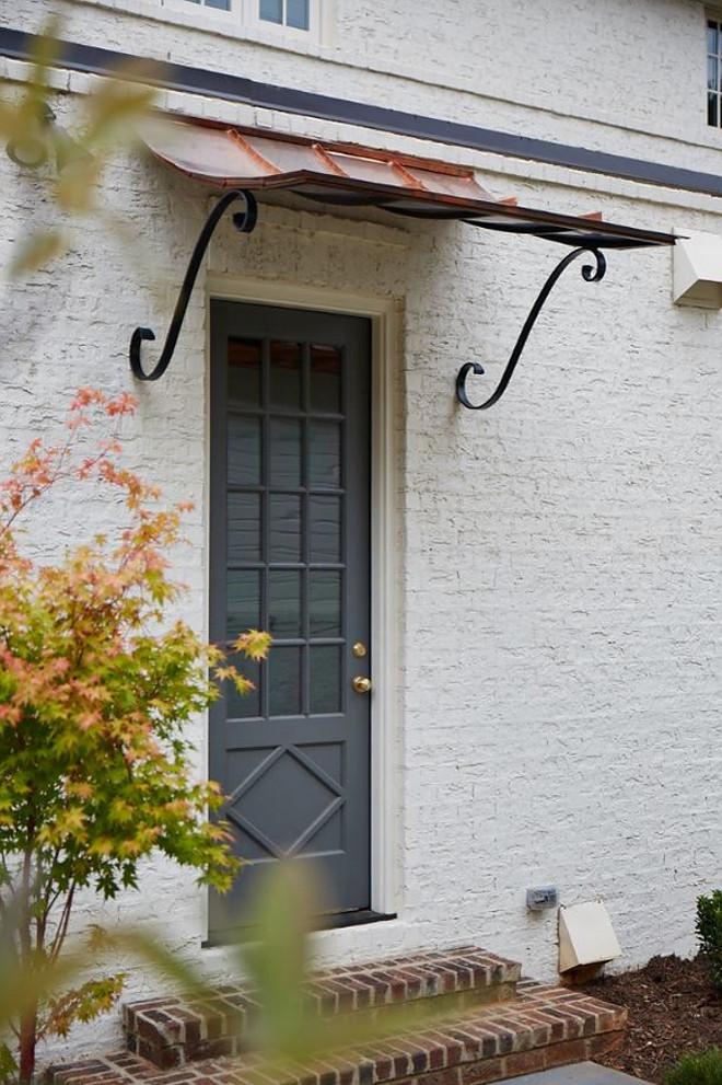 Creamy White Brick Exterior. Creamy White Brick Exterior with grey front door #CreamyWhiteBrick #CreamyWhiteBrickExterior #CreamyWhiteBrick #WhiteBrickExterior #greyfrontdoor Tammy Coulter Design - Grandfather Homes
