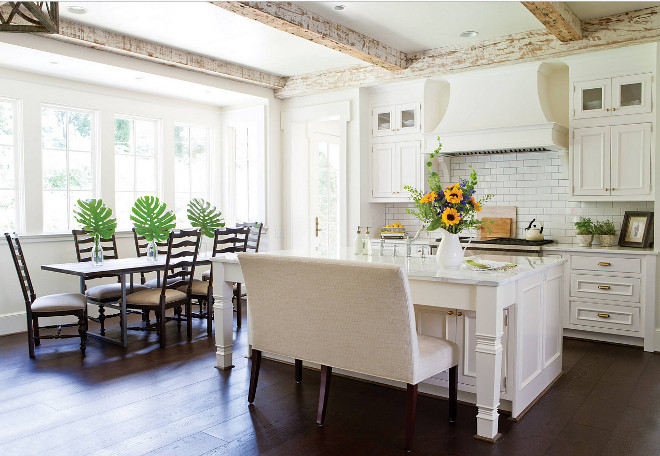 reamy White Kitchen. Creamy White Kitchen. Creamy white kitchen, painted in Benjamin Moore OC-37 Glacier White, distressed whitewashed ceiling beams and dark stained hardwood floors. Creamy White Kitchen with distressed whitewashed ceiling beams and dark stained hardwood floors. Creamy White Kitchen. Creamy White Kitchen. Creamy White Kitchen with distressed whitewashed ceiling beams and dark stained hardwood floors Creamy White Kitchen. Creamy White Kitchen Benjamin Moore OC-37 Glacier White. #CreamyWhiteKitchen #WhiteKitchen #distressedbeams #whitewashedceilingbeams #darkstainedhardwoodfloors #hardwoodfloors #BenjaminMooreOC37GlacierWhite #BenjaminMooreOC37 #BenjaminMooreGlacierWhite Designer's Choice