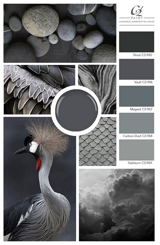 Dark Grey Paint Colors. Stormy greys. C2 Paints. C2-481 Stout. C2 Vault. C2 Magnet. C2 Carbon Dust. C2 Hailstorn #DarkGrey #PaintColors #Stormygreys #C2Paints #C2481Stout #C2Vault #C2Magnet #C2CarbonDust #C2Hailstorn