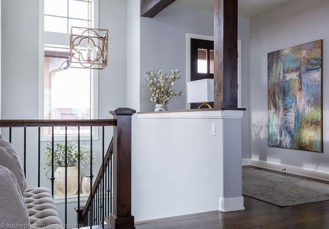 Entry Layout. Entry Layout Ideas. This oversized contemporary art by Uttermost adds color and drama to this entry. Rug by Loloi, lantern by Currey and Company and lamp by Uttermost. Entryway Layout. Entry Layout #Entry #EntryLayout Restyle Design, LLC.