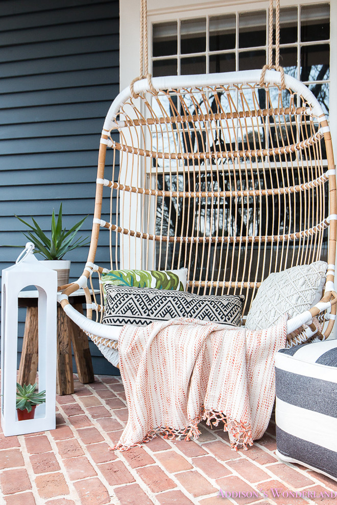 Front Porch Swing Decorating Ideas. Serena and Lily Double Hanging Rattan Chair Front Porch Swing Decorating Ideas. Front Porch Swing Decorating Ideas. Serena and Lily Double Hanging Rattan Chair Front Porch Swing Decorating Ideas #FrontPorchSwing #PorchSwing #PorchDecor #PorchDecoratingIdeas #SerenaandLily #DoubleHangingRattanChair #FrontPorch #Swing Home Bunch's Beautiful Homes of Instagram @addisonswonderland