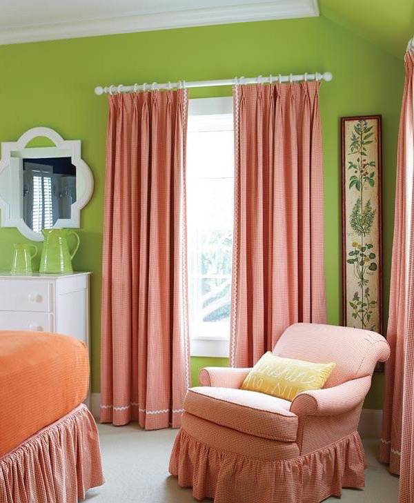 Green and Coral Bedroom Color Palette. Summery and fresh Bedroom Color Palette. Bedroom #BedroomColorPalette #Bedroom #ColorPalette Nancy Serafini