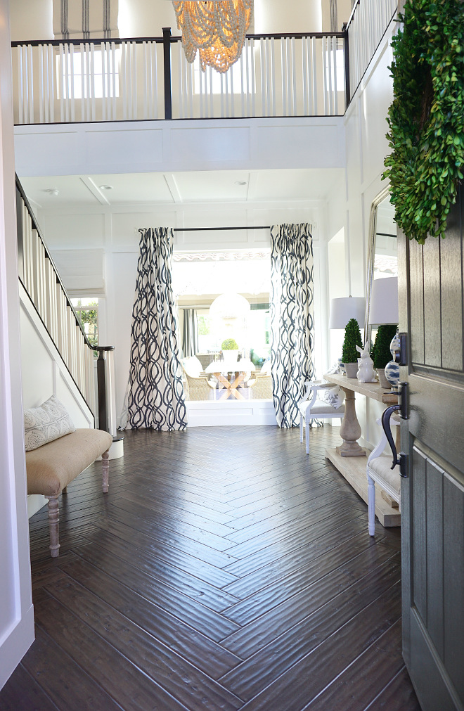 Herringbone Hardwood Flooring. Entryway Herringbone Hardwood Flooring. Entryway Herringbone Hardwood Flooring Ideas #Entryway #Herringbone #HardwoodFlooring #HerringboneHardwoodFlooring #EntrywayHerringboneHardwo Beautiful Homes of Instagram @MyHouseOfFour