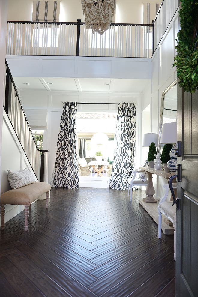 Herringbone pattern. Wood floors in herringbone pattern. I wanted a bright foyer and decided to install the wood floors by Provenza Floors in a herringbone pattern. Wood floors in herringbone pattern #Woodfloors #herringbonepattern Beautiful Homes of Instagram @MyHouseOfFour