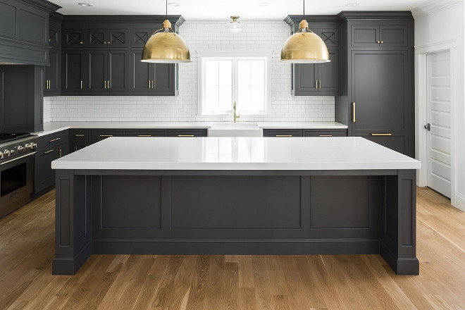 Hot New Kitchen Trend. Dark Cabinets, Subway Tile And Shiplap. Hot New  Kitchen