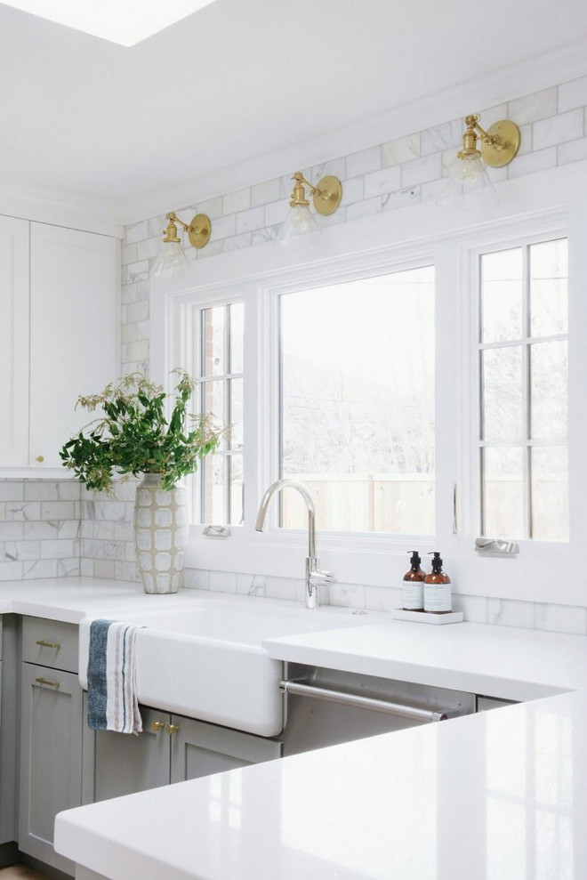 Kitchen Countertop And Backsplash. My Favorite Detail In This Kitchen Is  The Solid White Quartz