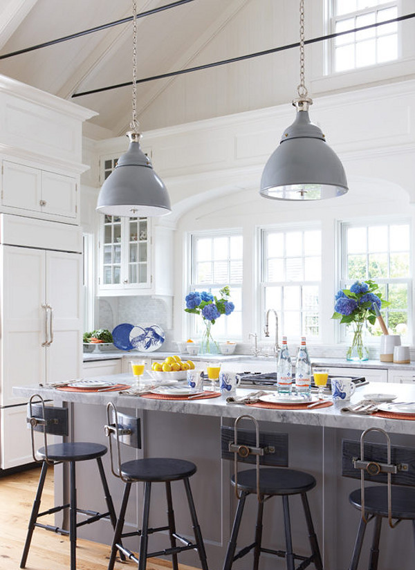 Knoxville Grey Paint by Benjamin Moore. Kitchen island paint color is Knoxville Grey Paint by Benjamin Moore. Knoxville Grey Paint by Benjamin Moore #KnoxvilleGreybyBenjaminMoore Nancy Serafini