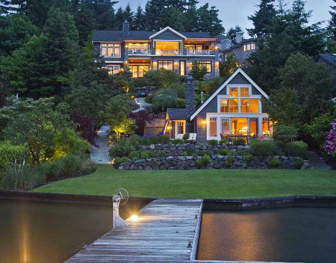 Lake House Exterior. Lake House Exterior. Lake House Exterior. Lake House Exterior with dock. Lake House Exterior #LakeHouseExterior Schuler Architecture