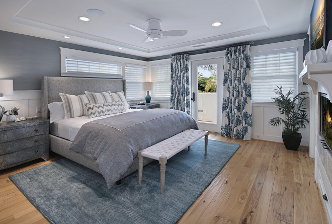Master Bedroom waiscoting and wallpaper. The walls are a Schumacher seagrass wall covering. Master Bedroom waiscoting ideas. Master Bedroom waiscoting. Master Bedroom waiscoting. Master Bedroom waiscoting #MasterBedroomwaiscoting #MasterBedroom #waiscoting Kaizen Interiors