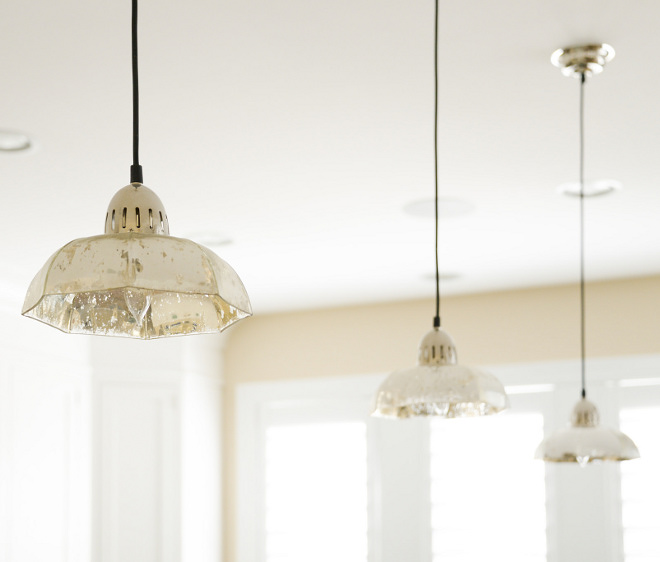 Mercury glass pendant lights. Regina Andrew Design Antique Mercury Candy Dish Pendant. #mercuryglass #pendantlights Echelon Custom Homes